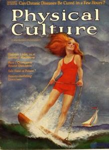 Magazine cover for physical culture in the 1930s
