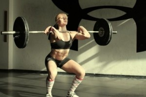 Power clean in a barbell complex