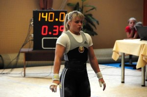 Weightlifter preparing to lift