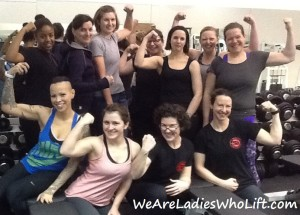Ladies Who Lift end of course group photo
