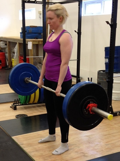 Deadlift with a double overhand grip