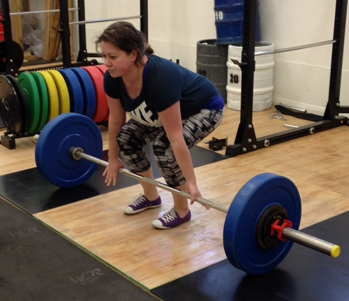 Deadlift with a mixed grip