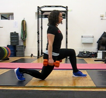 Split squat glute emphasis