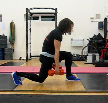 Poor posture in the split squat