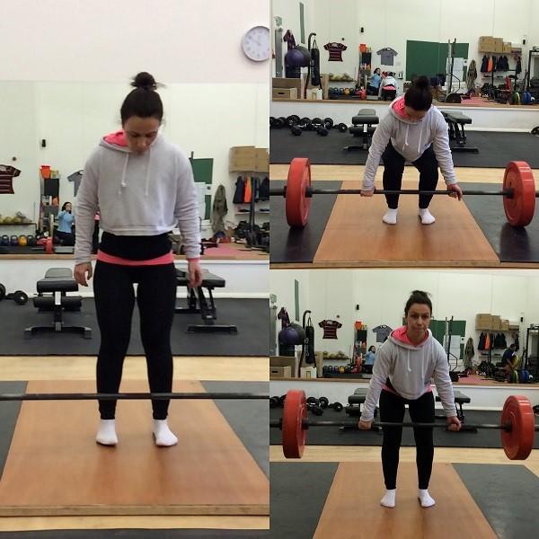 Correct deadlift stance width for Julia