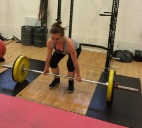Izzy working on her deadlift technique