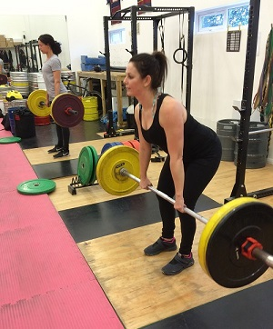 Cass showing good deadlift technique