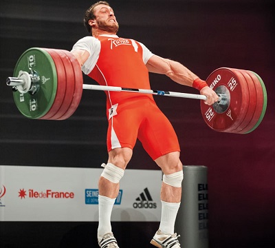 Weightlifter Dmitri Klokov is well known for his aggressive lifting style