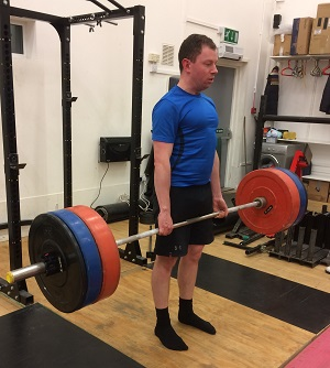 John is Building Strength in the deadlift