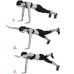 Superman plank exercise