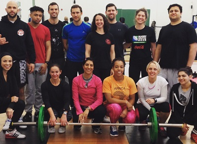 Olympic Lifting workshop attendees