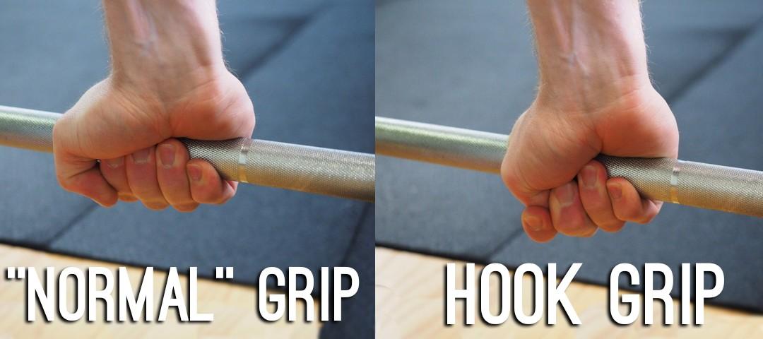 normal versus hook grip